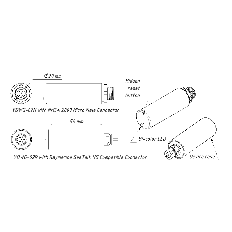 Yacht Devices NMEA 2000 Wi-Fi Gateway YDWG-02