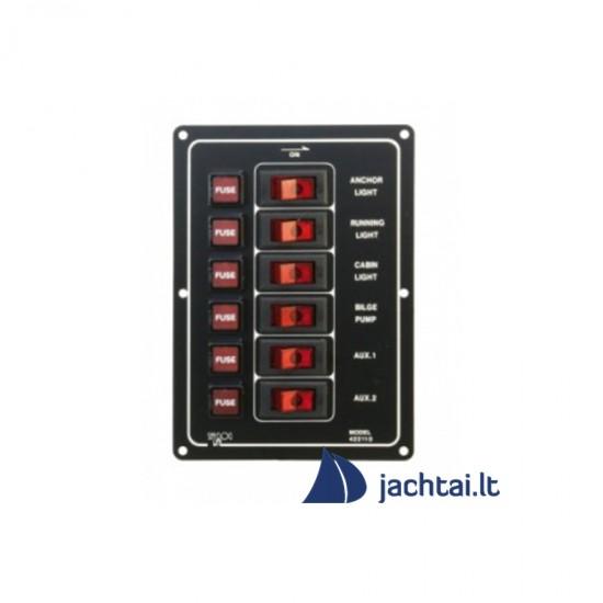 6-jų jungiklių skydelis - EK10011