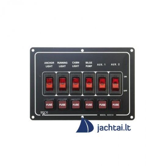6-jų jungiklių skydelis - EK10012