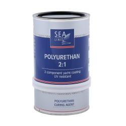 Sea-Line 2-jų komponentų poliuretaniniai dažai 0,75l Juoda - RAL-9005  - Polyurethane Topcoat