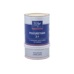 Sea-Line 2-jų komponentų poliuretaniniai dažai 0,75l  dramblio kaulo - RAL - 1015- Polyurethane Topcoat