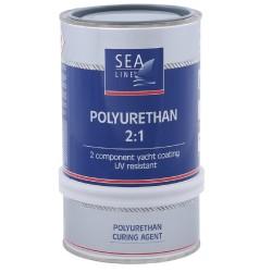 Sea-Line 2-jų komponentų poliuretaniniai dažai 0,75l Pilka - RAL-7000  - Polyurethane Topcoat